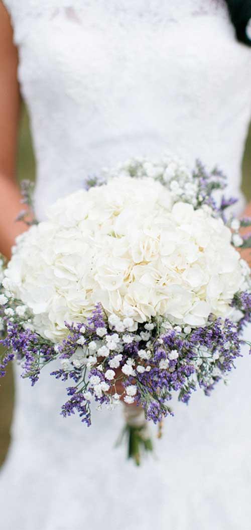 buchet mireasa cu flori de lavanda